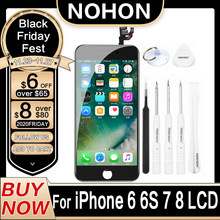 Nohon lcd para iphone 8 7 6 s tela de exibição iphone8 iphone7 iphone6 s original substituição digitador assembléia completa 3d toque aaaa