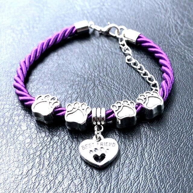 Dog Paw Charm Bracelet  4