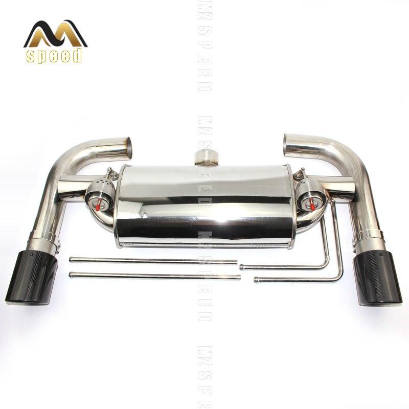 Universale Doppia valvola t-tipo di tubo di scarico in acciaio inox 304 valvola di controllo a distanza di scarico è adatto per BMW mitsubishi
