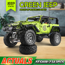 J902 High-Tech Green SUV Model Compatible With MOC-5140 Off-road Car Model Building Blocks Assembly Bricks Kids Christmas Gift