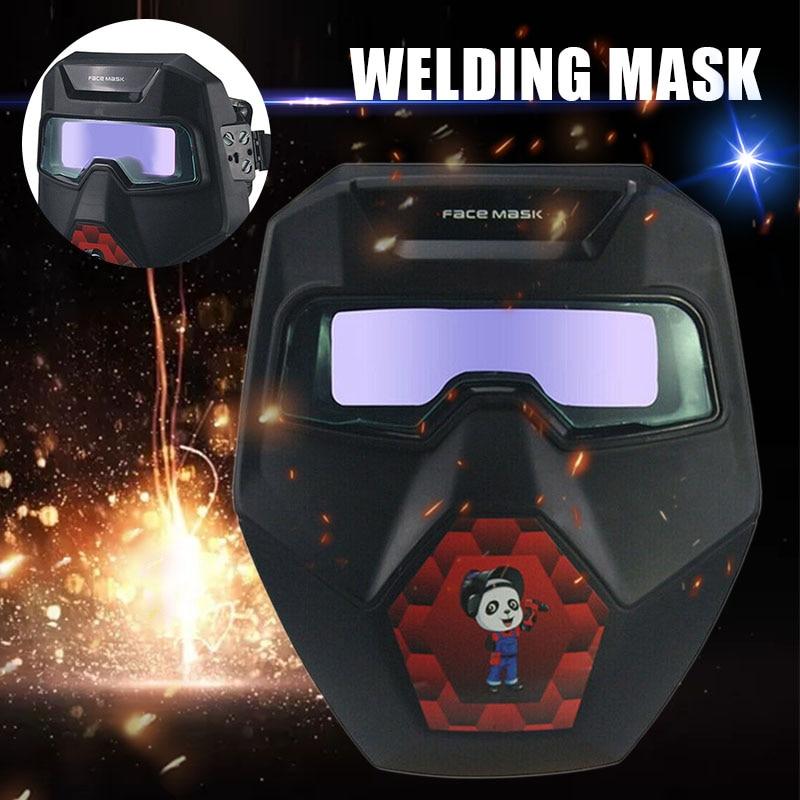 Welding Helmet Mask Sparkproof Protective Solar Powered Welding Glasses Auto Darkening Welding Mask Helmet With Eye Goggles