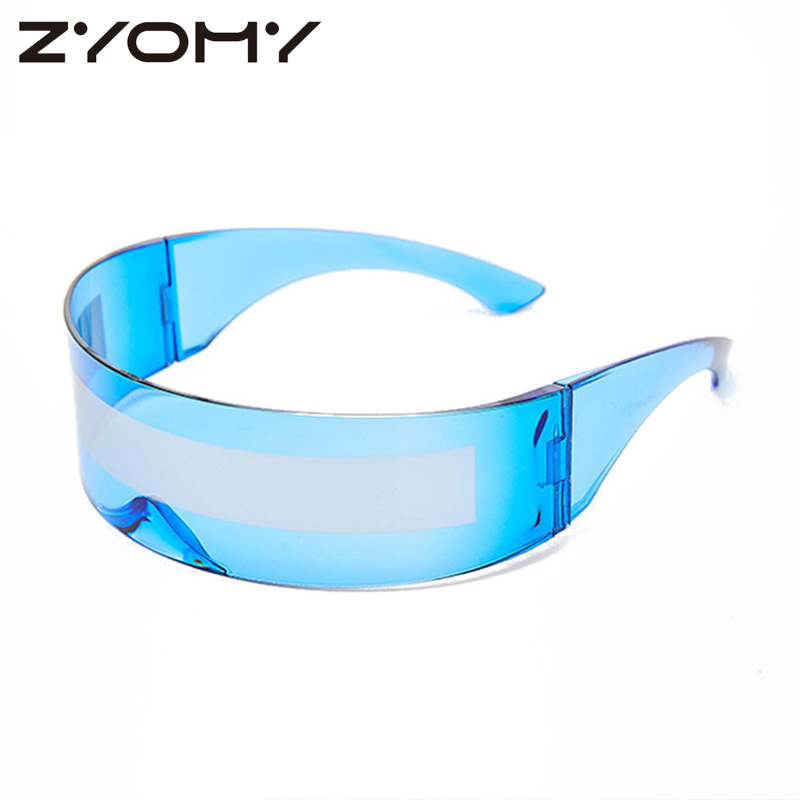 Multicolors European Style Integral Type Frameless Fashion Sunglasses Unisex Hair Hoop Type Goggles