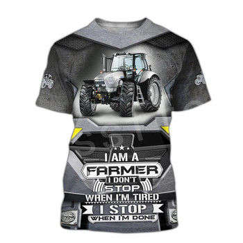 Tessffel Worker Farmer Tractor instrument Funny New Fashion 3DPrint Unisex Summer Casual Shorts sleeves T-shirts Mens/Womens A-1 1