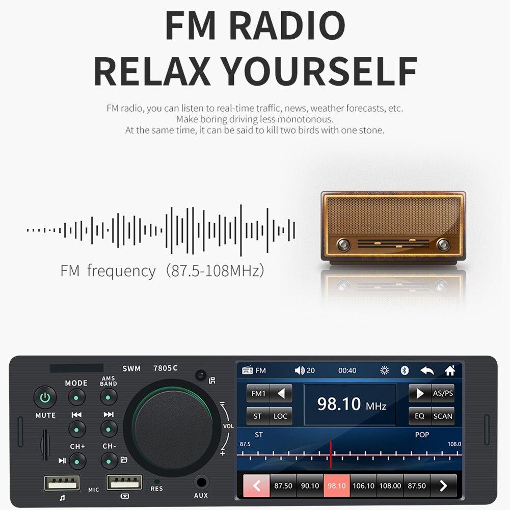 Radio Car 1din Android 4.1 Inch TFT 1 Din Car Touch Screen Radio Stereo FM Radio Bluetooth MP5 Player Car Radio Car Accessories