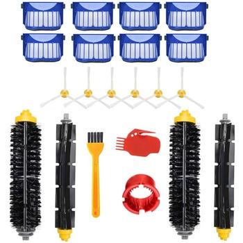 Rodillo principal lado del cepillo cepillos Filtro de repuesto accesorios para iRobot Roomba 600 Series 610, 620, 625, 630, 650, 660 piezas de aspiradora