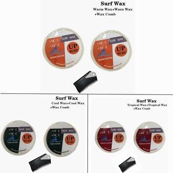 Surf wax Warm Water Wax/Tropical wax/Cool wax+surf wax comb 2pcs per set wax Surfboard wax surf wax cool water wax surf wax comb good quality surfboard wax