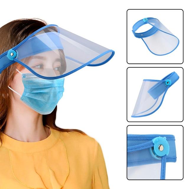 Eye Protective Visor Shield Anti Dust-proof Full Face Cover Mouth Mask Transparent Prevent Saliva Splash Mask Safe Face Shield
