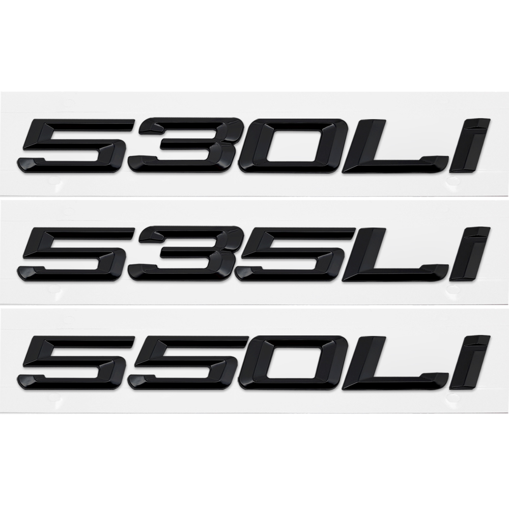 lowest price 525i 530i 535i 540i 550i Trunk Rear Emblems Badge Black Letters For BMW 5 Series F10 F11 F18 F07 E12 E28 E34 E39 E60 E61 G30 G31
