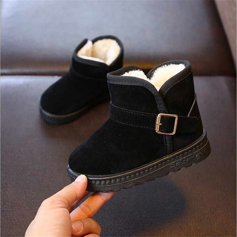 2019 New Kid Baby Toddler Shoes Child Winter Warm Snow Boots Shoes Plush Thicker Sole Boys Girls Snow Boots Shoes Big Size 25-36
