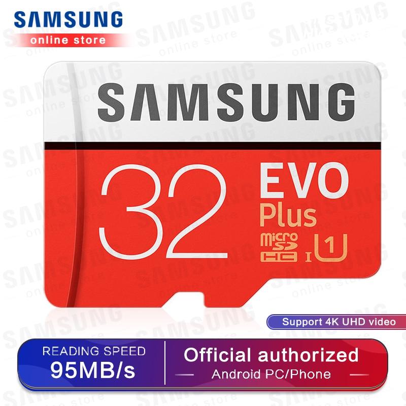 SAMSUNG Micro SD Memory Card EVO Plus 256GB 128GB 64GB 100MB/s SDXC C10 U3 UHS-I MicroSD TF Card 32GB For Smartphone And Tablet