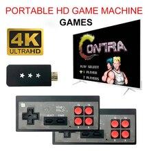 USB bezprzewodowy ręczny konsola do gier TV wideo budować w 600 klasyczna gra 8 Bit Mini konsola gier wideo obsługuje HD wyjście