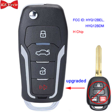 KEYECU สำหรับ Toyota Camry Corolla 2014 2015 2016 2017 2018 2019อัพเกรด Remote Key Fob HYQ12BDM HYQ12BEL H ชิป