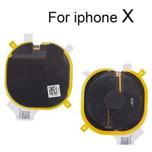 Image 5 - 1 szt. Bezprzewodowy układ ładowania cewki NFC dla iPhone 8G 8 Plus X Panel ładowarki naklejki Flex Cable