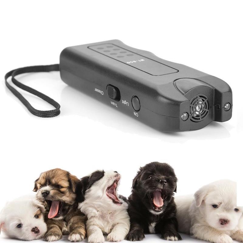 New Ultrasonic Dog Chaser Aggressive Animal Attacks Repeller Flashlight Training Control Anti Bark Barking Dog Training Tools