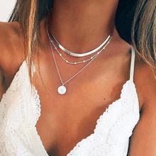 Boêmio moda concha colares & pingentes para 2020 vintage multicamadas gargantilha colar feminino collier femme colares jóias