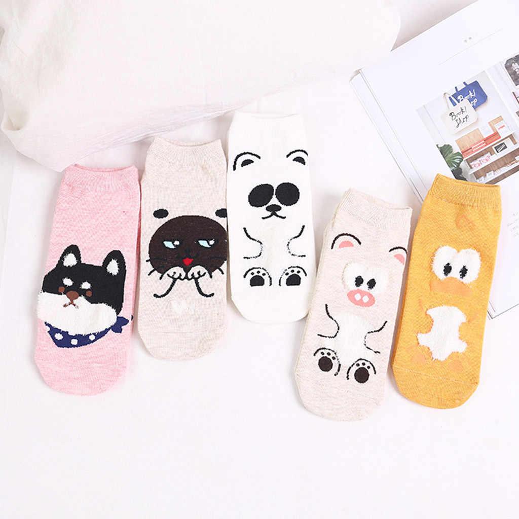 Moda Çizgi Film Karakteri Sevimli Kısa Çorap Kadın Harajuku Sevimli Desenli Ayak Bileği Çorap Hipster Kaykay Ayak Bileği komik çoraplar Kadın