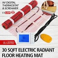 30 sqft  Matte Elektro Radiant Warmen Boden Fliesen Wärme System & Thermostat  120V-in Elektrische Heizung Teile aus Haushaltsgeräte bei