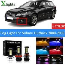 Xlights przednie światło przeciwmgielne led dla Subaru Outback 2000 2001 2002 2003 2004 2005 2006 2007 2008 2009 lampa przeciwmgielna żarówka samochodowa lampa lodowa Bule czerwony biały żółty różowy 12V 24V