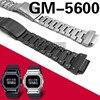 Czarny srebrny zestaw GM-5600 pasek zegarka pasek ze stali nierdzewnej zegarek ze stali nierdzewnej tylko stal nierdzewna 316L metalowe paski od zegarków pokrywa narzędzia