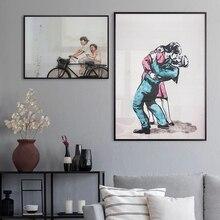 Классический Don't Panic Цитата kiss абстрактная картина велосипед на холст печати плакатов современное искусство настенные картины для Гостиная...