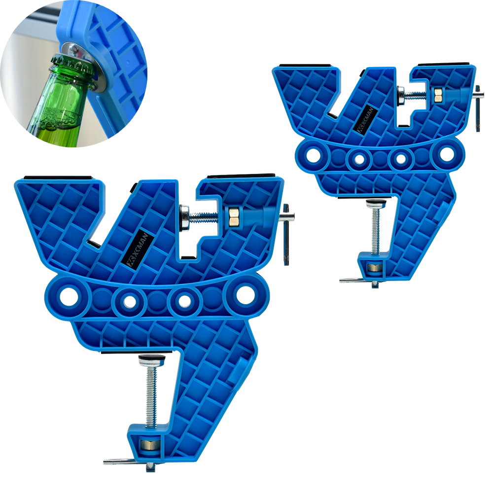 XCMAN Ski And Snowboard Vise For Tuning,Waxing And Repair,Set Of Non-Slip Vice Grips With Horizontal And Vertical,Beer Opener