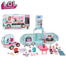 Lol surpresa omg lol bonecas 2-em-1 glamper brinquedos meninas gitter fábrica diy casa de jogo para presentes de aniversário da menina brinquedos quentes l27
