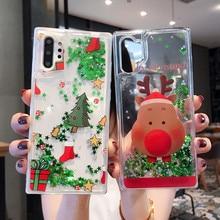 Luxury Liquid Case For iPhone XR X XS Quicksand Christmas Cover Xs Max 7 8 6 6s Plus Coque