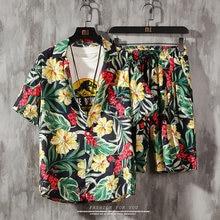 Мужской комплект из 2 предметов гавайская рубашка и пляжные
