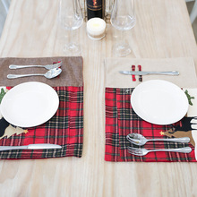 Cloth Anti-scald Placemat Double Layer Table Mats Heat-insulated Pad Coasters Christmas Decoration Kitchen Accessories