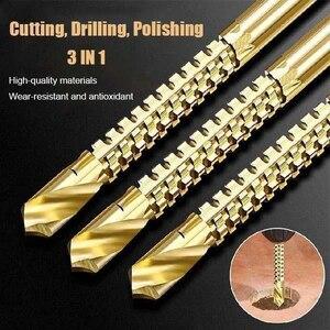 6pcs/set Cobalt Drill Bit Set Spiral Screw Metric Composite Tap Drill Bit Tap Twist drill bit set multi-function metal specia