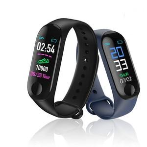 Image 5 - M3 プラス防水スマート腕時計 M3Plus Bluetooth ウォッチリストバンドフィットネストラッカー心拍数活動スマートウォッチ