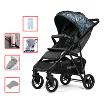 Baby Stroller Comfortable Children Pram 4 Wheels Strollers