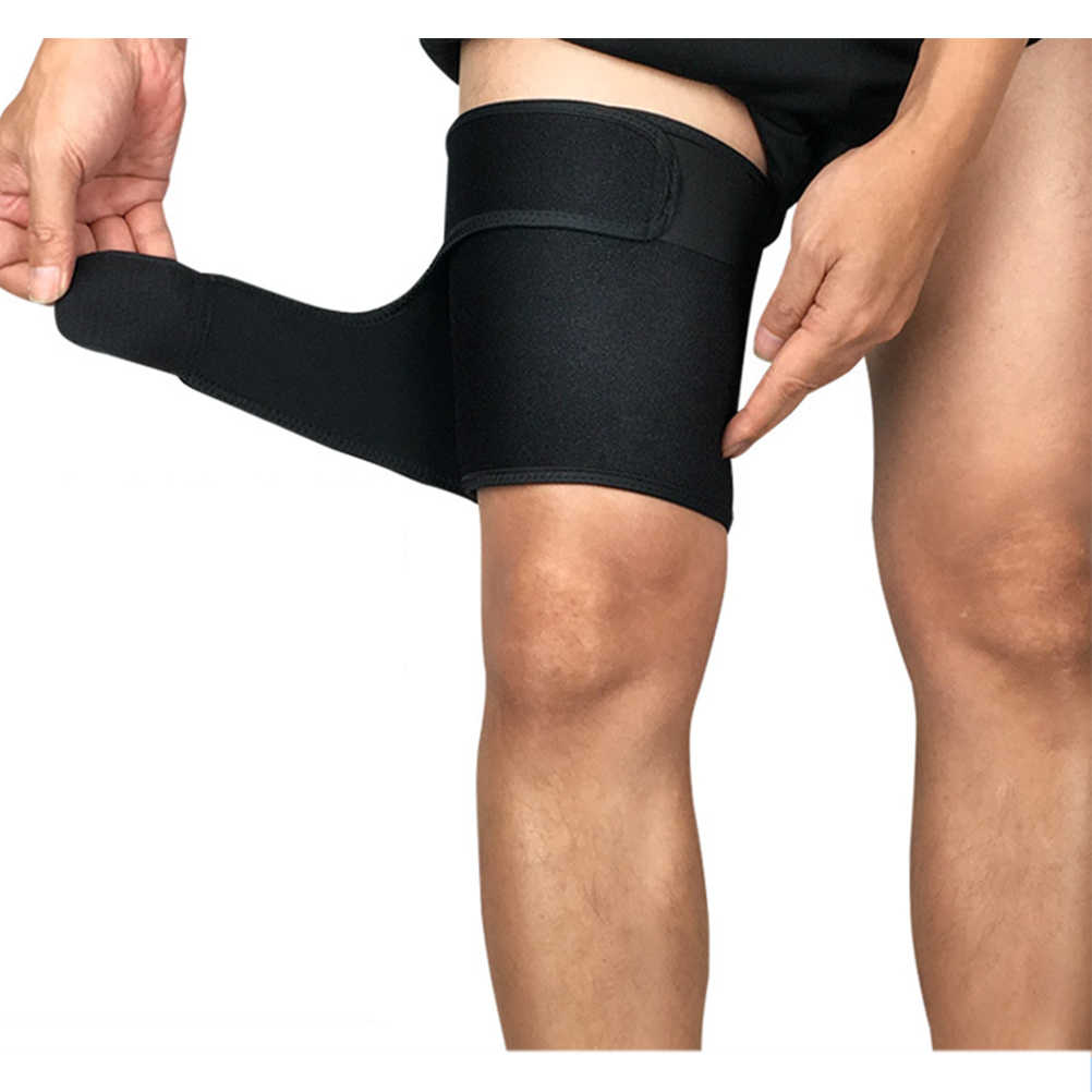 1PCS Outdoor Sport Been Mouwen Brace Knie Pads Kneepad Basketbal Sport Compression Calf Stretch Brace Dij Bescherm #20