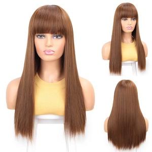 Image 3 - Aisibeauty 긴 합성 가발 264colors 고밀도 자연 머리 라인 내열성 스트레이트 헤어 가발 여성을위한