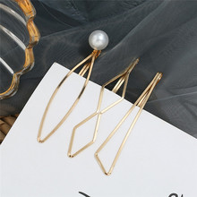HOCOLE 3 Pcs/Set Pearl Metal Gold Color Hair Clips For Women Bobby Pin Barrette Hairpins Girls Hair Styling Accessories Jewelry цена и фото