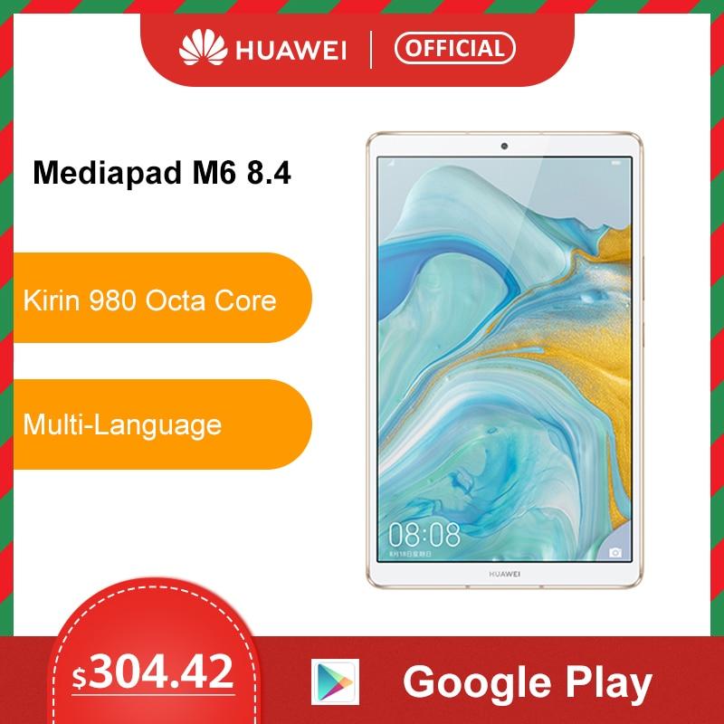 Original Huawei Mediapad M6 Tablet 64GB WIFI LTE Kirin980 Octa Core Turbo 8.4 Inch Android 9.0 With Google Play 6100mAh Type-C