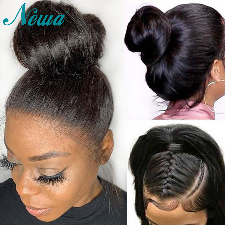 Newa Hair Full Lace Human Hair Wigs With Baby Hair Brazilian Straight Full Lace Wigs For