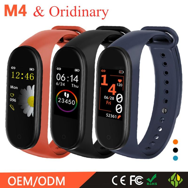M4 Smart Pedometer Band Fitness Running Walking Tracker Heart Rate Blood Pressure Bracelet Ordinary Pedometer Calculate Calorie