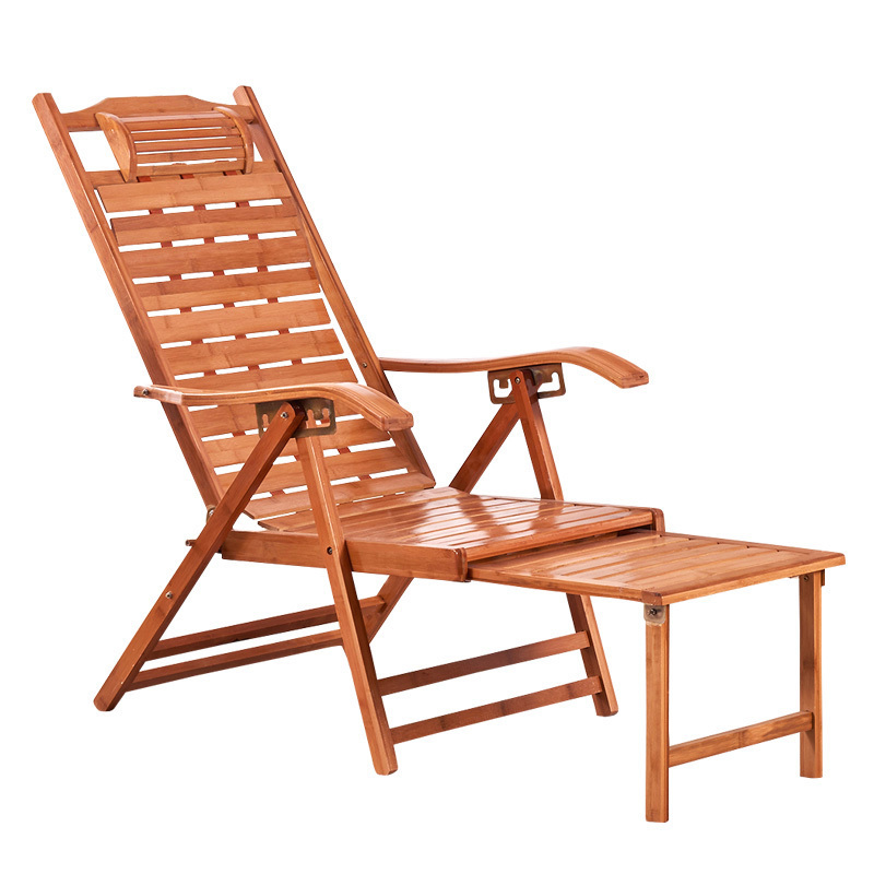 Household Bamboo Recliner Folding Chair Lunch Break Chair Recliner Recliner Summer Bamboo Chair Bamboo Chair