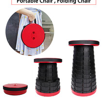 Folding Chair Telescopic Retractable Stool Picnic Fishing-Traveling Outdoor Space-Saving