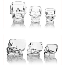 Double Wall Glass Skull Heat Resistant 250ml Head Cup for Whiskey Wine Vodka Beer Bar Mug Drinkware Halloween Gift