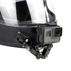 Image 1 - QIUNIU Adaptador de hebilla de montaje fijo para casco de motocicleta accesorio de acción para GoPro Hero 9/8/7/6/5/4/3 para Yi, para DJI Osmo