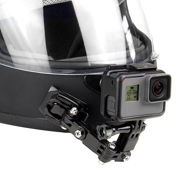 QIUNIU Adaptador de hebilla de montaje fijo para casco de motocicleta accesorio de acción para GoPro Hero 9/8/7/6/5/4/3 para Yi, para DJI Osmo