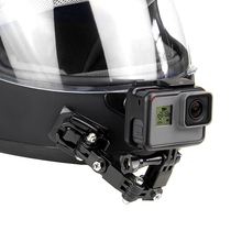 QIUNIUรถจักรยานยนต์คางด้านหน้าFixed Mount BuckleสำหรับGoPro Hero 9/8/7/6/5/4/3สำหรับYiสำหรับDJI Osmo Actionอุปกรณ์เสริม