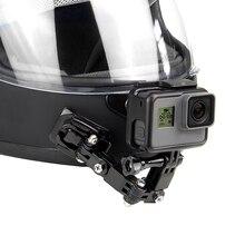 Qiuniu capacete da motocicleta frente queixo fixo montagem fivela adaptador para gopro hero 9/8/7/6/5/4/3 para yi para dji osmo ação acessório
