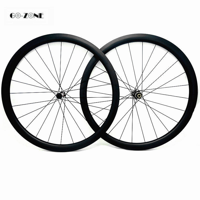 road bike wheels 38x23mm clincher or tubular disc carbon wheels novatec D411SB D412SB 100X12 142X12 or QR wheelset 700c