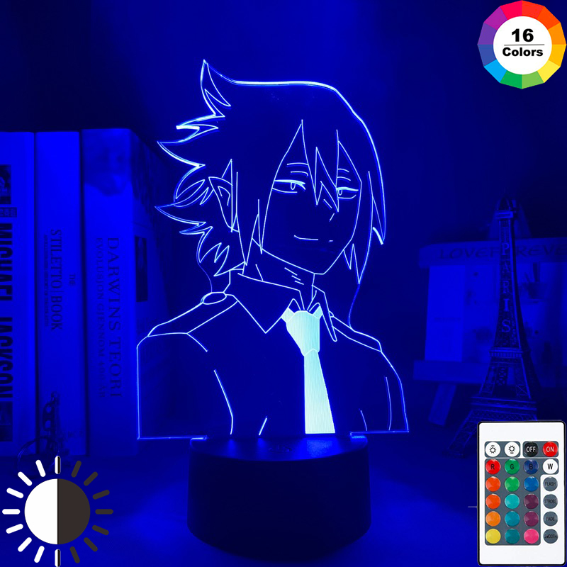 СВЕТОДИОДНЫЙ ночник в стиле аниме «Моя геройская Академия», Tamaki Amajiki светильник для спальни, Декор, подарок на день рождения, лампа Тамаки «М...