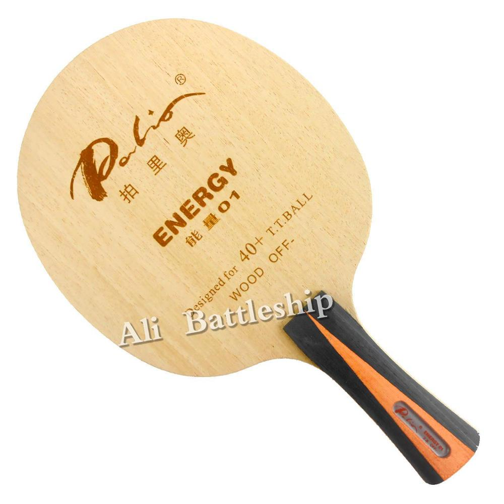 Palio Official Energy 01 Table Tennis Blade Special For 40+ New Material Table Tennis Racket Game Loop And Fast Attack 3ply Wood