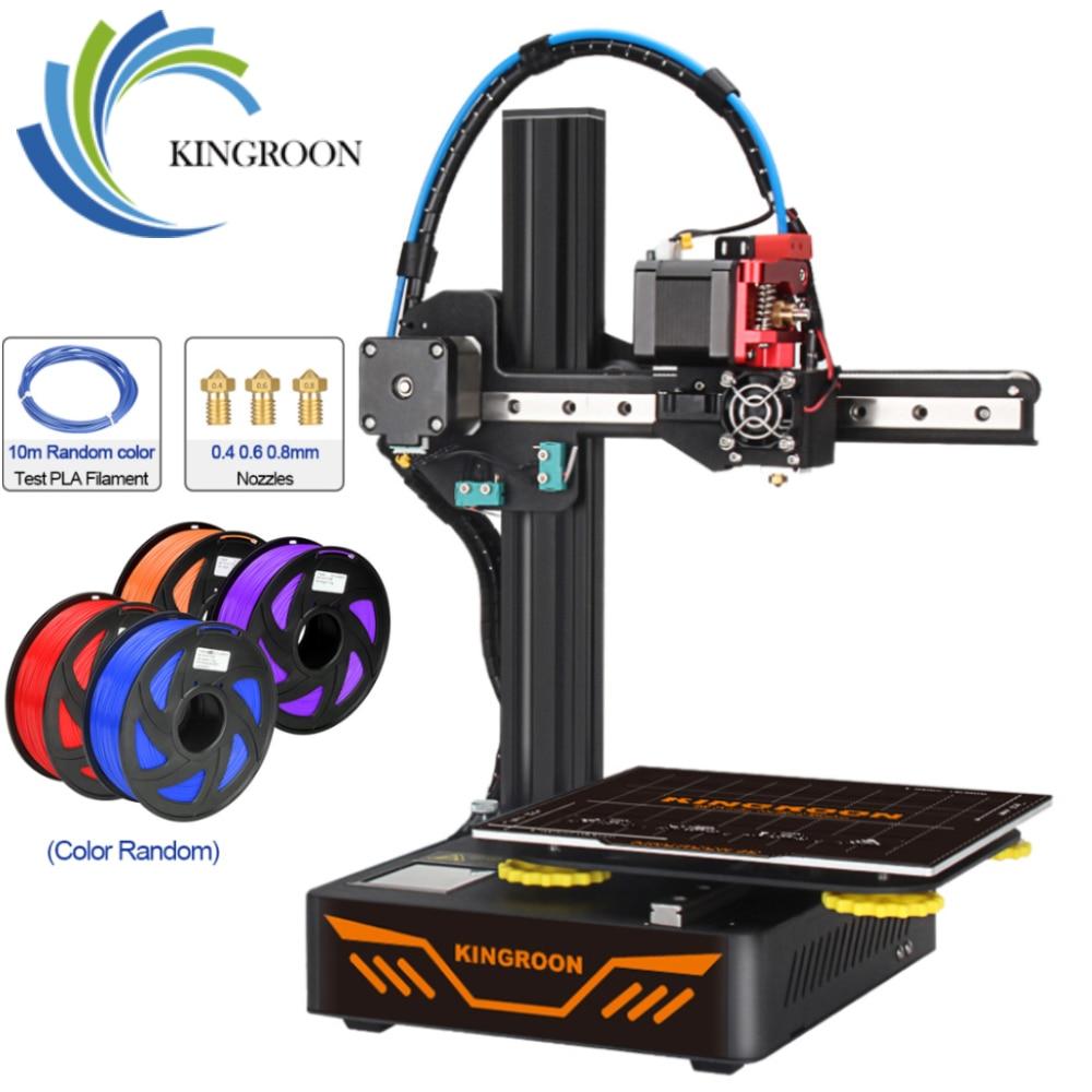 KINGROON KP3S 3D yazıcı yüksek hassasiyetli baskı yükseltildi DIY 3d yazıcı kiti dokunmatik ekran baskı boyutu 180*180*180mm