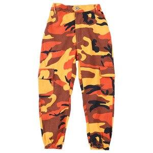 Image 5 - Wina dziecko Hip Hop odzież spodnie kamuflażowe do biegania dla dziewczyn taniec jazzowy nosić kostium tańca towarzyskiego ubrania sceniczne stroje garnitur